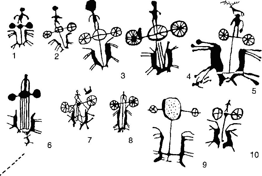 Изображения колесниц на петроглифах Алтая