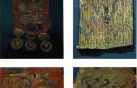 Пазырык. Войлочные покрышки седел № 2 и 3 (детали), шит (дерево и кожа)