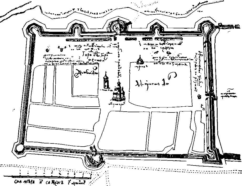 Рис. 12. План крепости на р. Везелке
