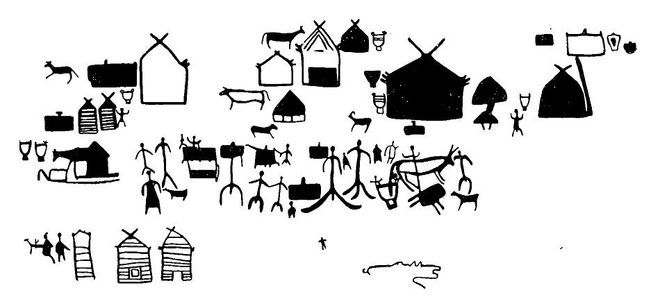Рис. 6. Изображения на Большой Боярской писанице (деталь)