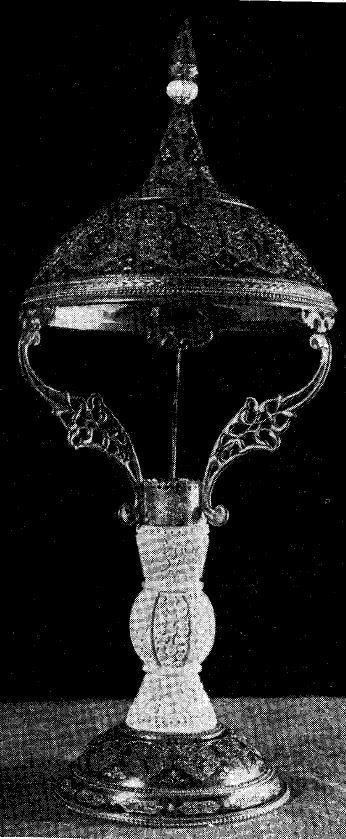 Настольная лампа (Кубачи)