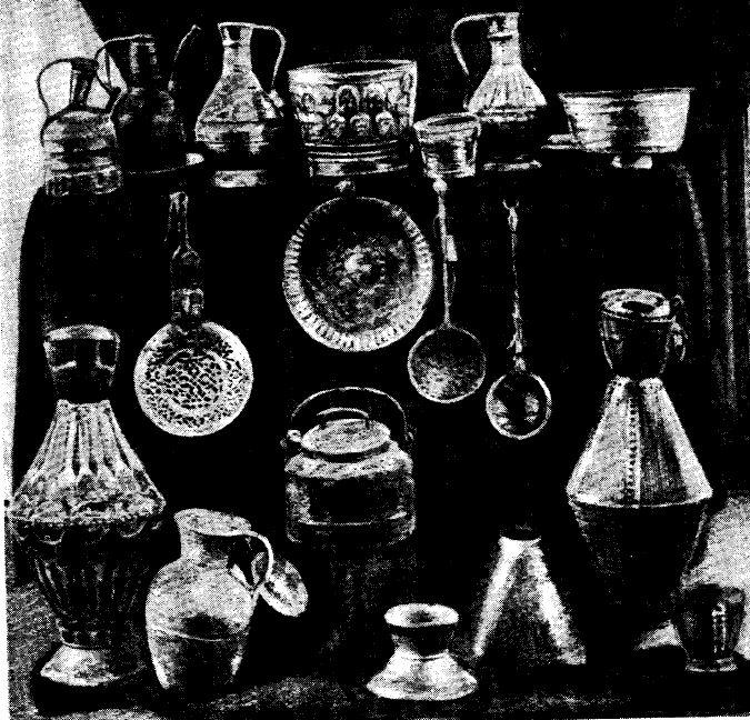 Изделия кубачинской медночеканной мастерской