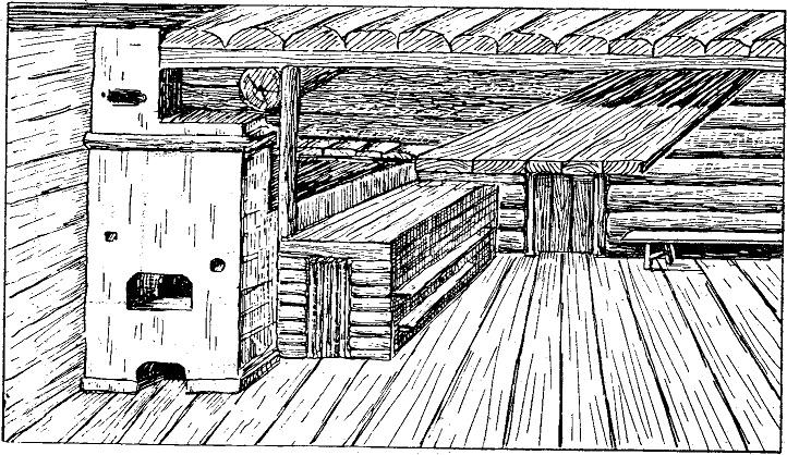Голбец и полати в северновеликорусской избе