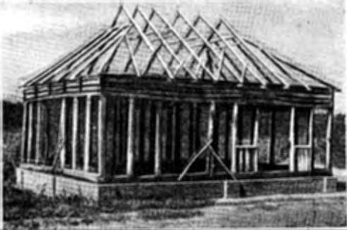 Каркасная конструкция украинского дома, (Полтавская обл.)