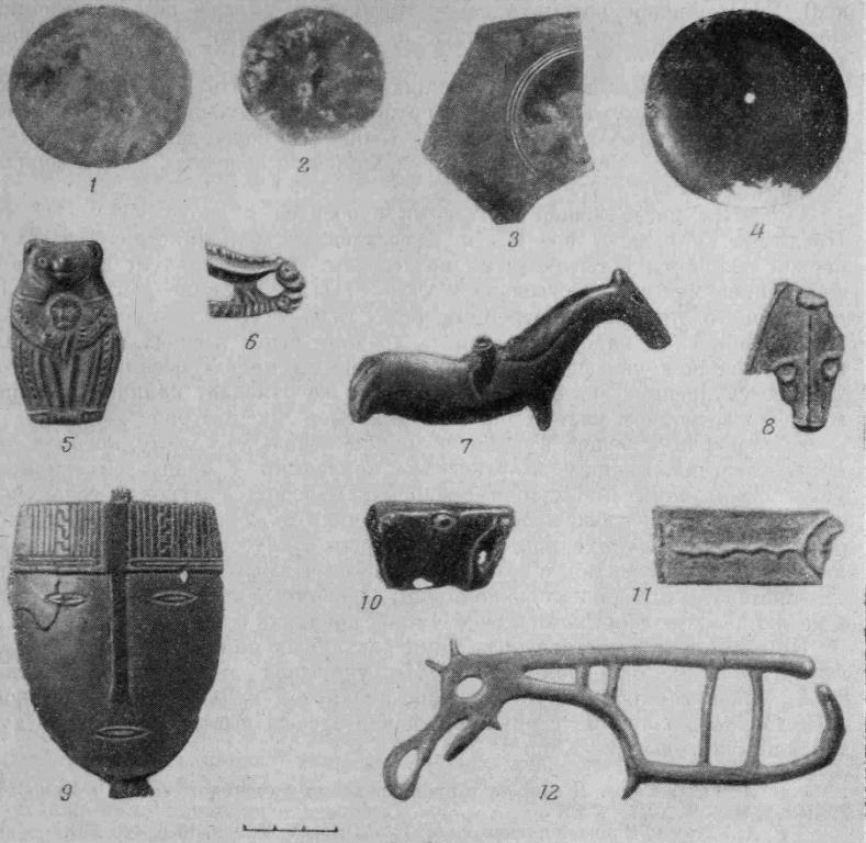 Рис. 3. Елыкаевский клад. Изделия из бронзы
