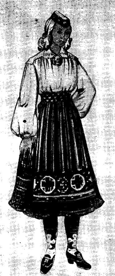 Женская одежда эстонцев