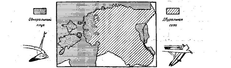 Распространение типов плуга в Эстонии