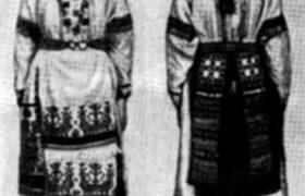 Поясная женская одежда «хурстуксет» ижорцев и води (XIX в.)