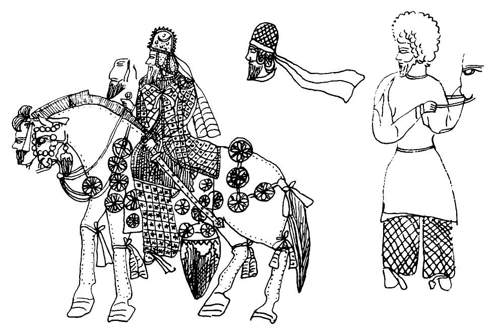 Рис. 3. Изображение шаха на коне. Персеполь