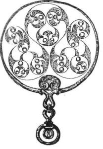 Бронзовое зеркало. Кельтское искусство.