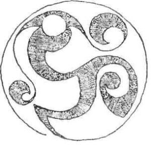 Узор на умбоне кельтского щита.