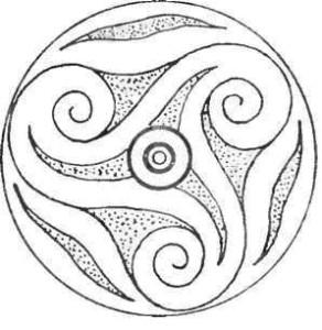 Бронзовая бляха. Кельтское искусство.