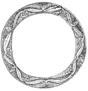 Декорации ободка бронзового котла. Кельтское искусство.