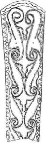 Накладка на ножнах. Кельтское искусство. Бронза.