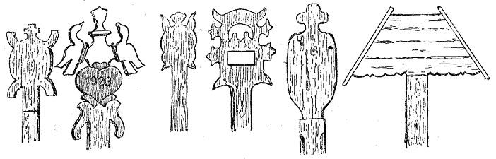 Надмогильные «кресты» в Западной Литве
