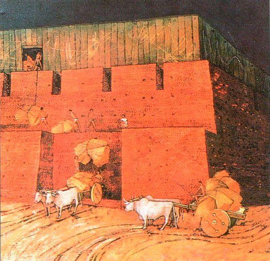 Так выглядело Зернохранилище по предположению сэра Мортимера Уилера. Это еще одно грандиозное сооружение на холме Цитадели. Сегодня археологи не уверены в том, что интерпретация Уилера верна.