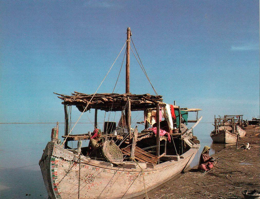Так выглядит река Инд в наши дни. Тысячи лет люди ловили в Инде рыбу, орошали поля его водой и путешествовали по нему. Четыре тысячи лет назад Инд протекал вблизи древнего города Мохенджо-Даро. С тех пор он изменил свое русло и теперь течет в трех с лишним километрах от этого места.