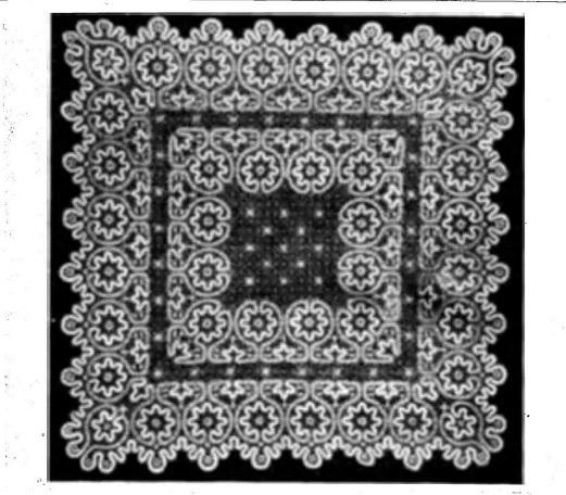 Кружевная накидка на подушки (Вологодский кружевосоюз)