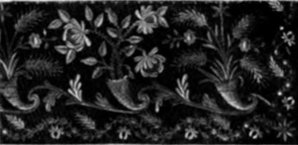 Образец золотого шитья, конец XVIII в. (г. Торжок)
