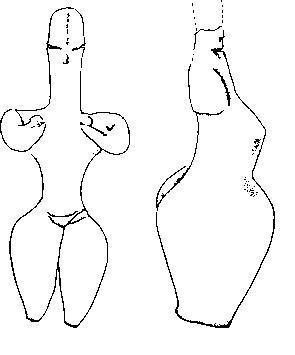 Две фигурки из необожженной глины из святилища в ранненеолитическом поселении Неа Никомедиа в греческой Македонии.