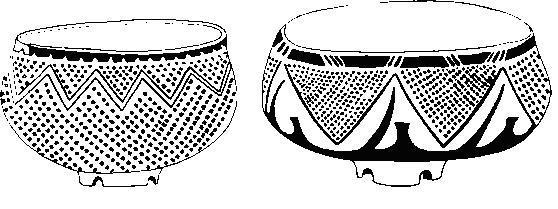 Бело-красная расписная керамика из средненеолитических поселений Слатина и Кремиковцы в районе Софии, Болгария. Конец VI тысячелетия до н. э.