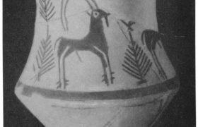 22. Расписной сосуд из Ак-тепе. Глина. Эпоха бронзы. Вторая половина III тыс. до н. э.