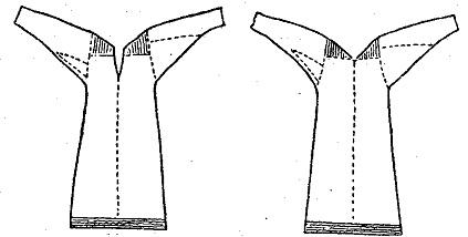 Покрой женской рубахи с прямыми поликами