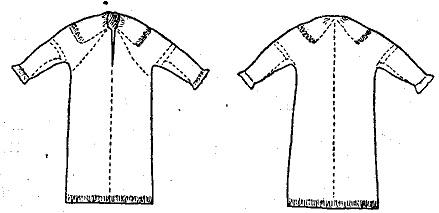 Покрой женской рубахи с косыми поликами