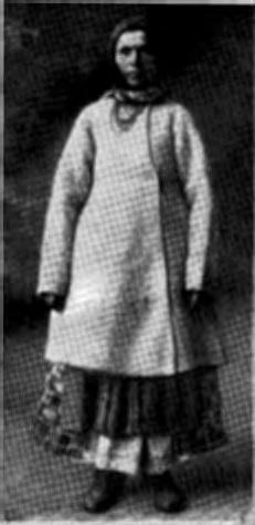 Украинка в национальной одежде, (начало XX в.). Видны концы плахты