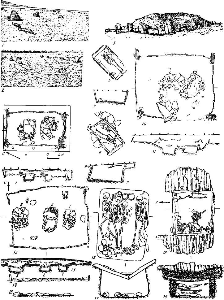 Таблица 90. Тагарская культура. Погребальный обряд