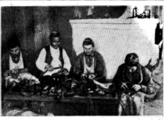 Изготовление узорной обуви (г. Казань, 1927 г.).