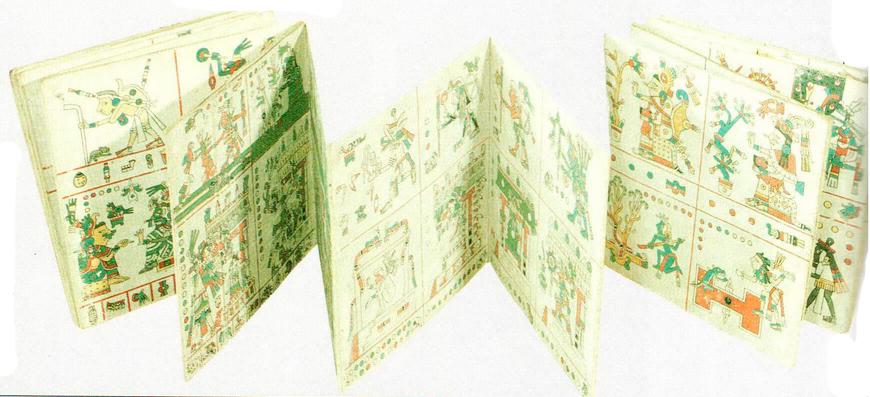 Кодексы представляли собой длинные, сложенные гармошкой полосы бумаги, на которых ацтеки описывали и иллюстрировали свою жизнь и историю.