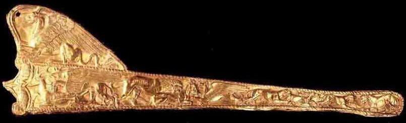 Золотая обкладка ножен. Толстая Могила.