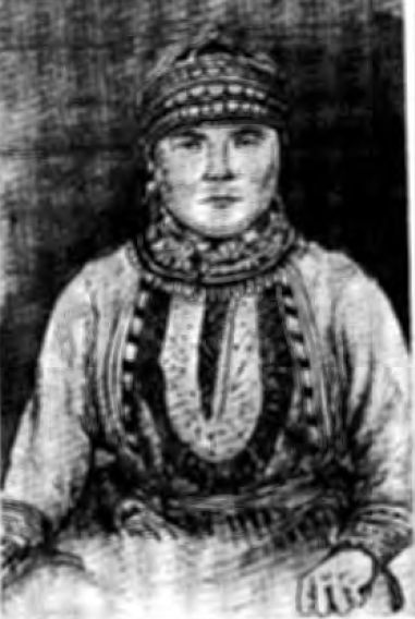 Девушка-бесермянка (фото 1930 г.)