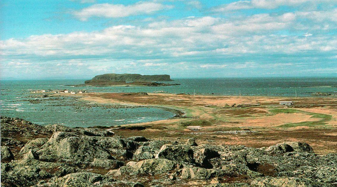 Анс-о-Мидоуз, место расположения единственного в Северной Америке поселения викингов, обнаруженного к настоящему времени. Открытость этого места делала его малоподходящим для долговременного поселения, зато прибывающие из Гренландии моряки могли легко его заметить.