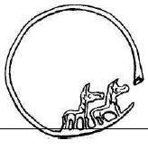 золотое височное кольцо из могильника Мыншункур в Семиречье