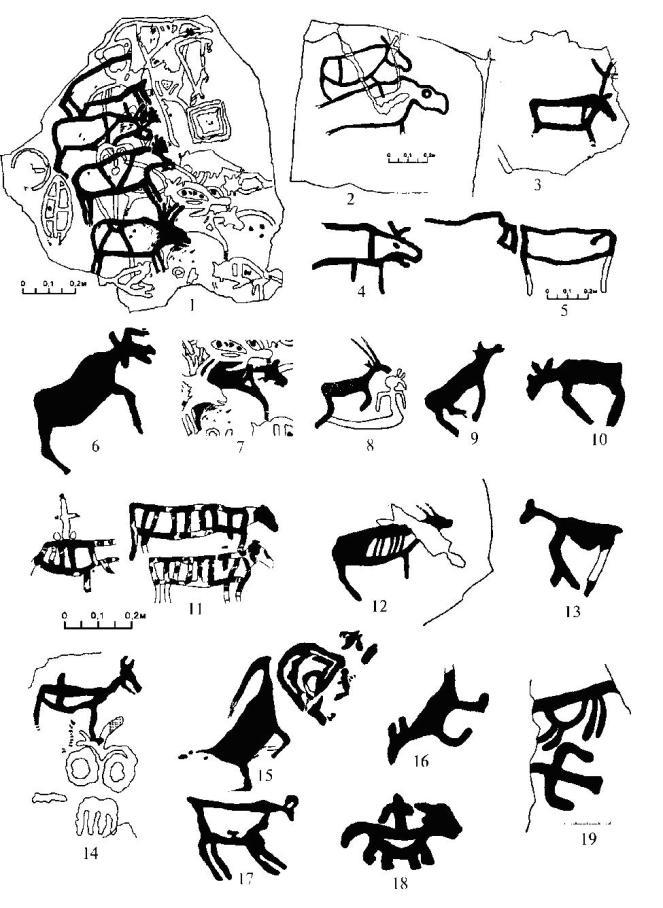 Анималистические изображения Ангары