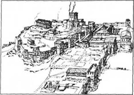 Рис. 20. Акрополь Пантікапея (за В. П. Толстіковим)