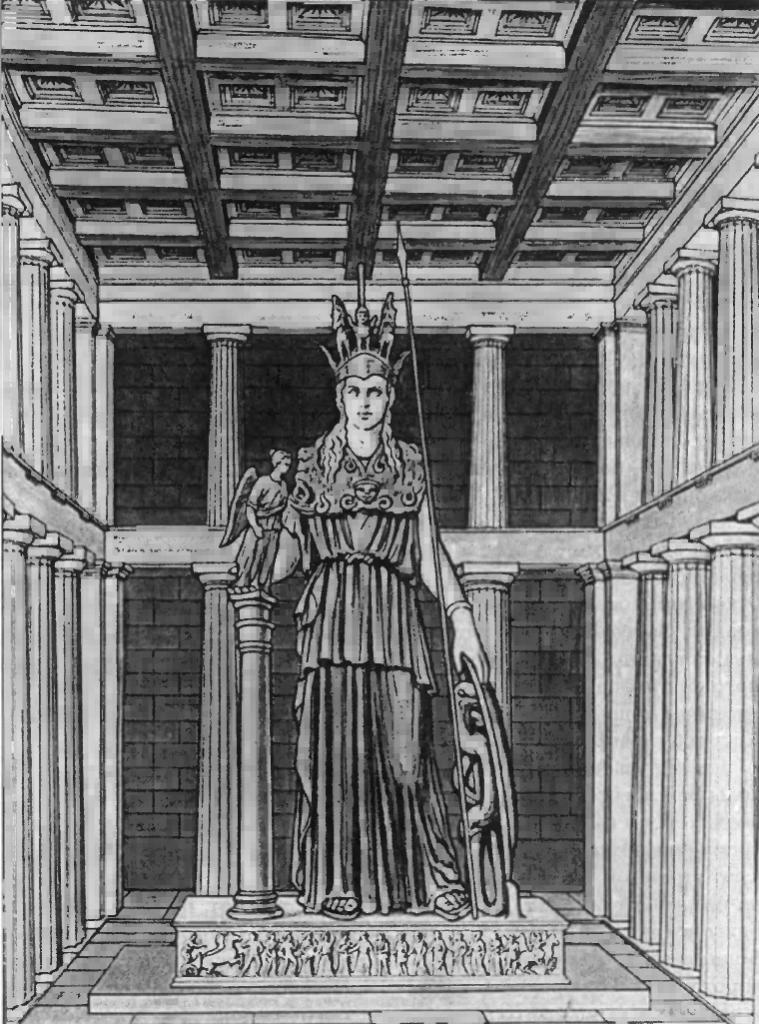 Статуя Афины, в Парфеноне. Реконструкция