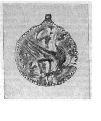 Рис. 1. Золотая подвеска с изображением Афродиты.