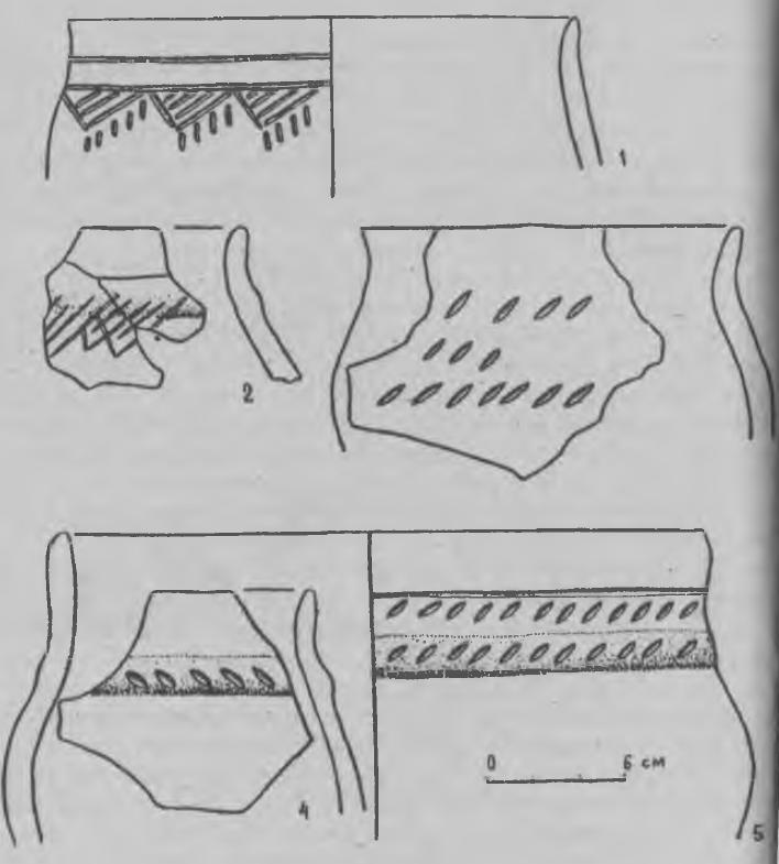 Рис. 4. Поселение Жар-Агач. Керамика 2-й группы