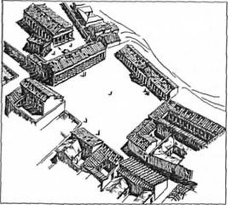 Рис. 17. Ансамбль агори та центрального теменосу Ольвії (за С. Д. Крижицьким)
