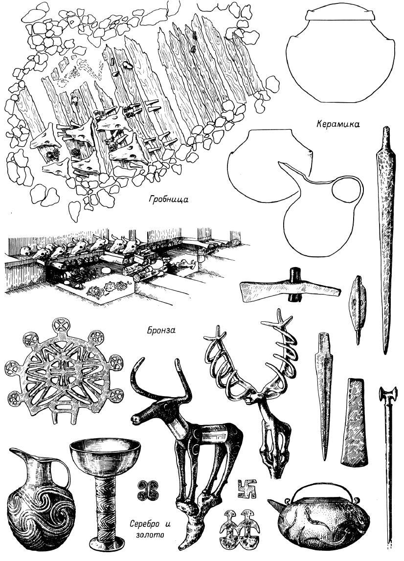 Рис. 28. Аладжа-Хююк. Комплекс из богатых гробниц.