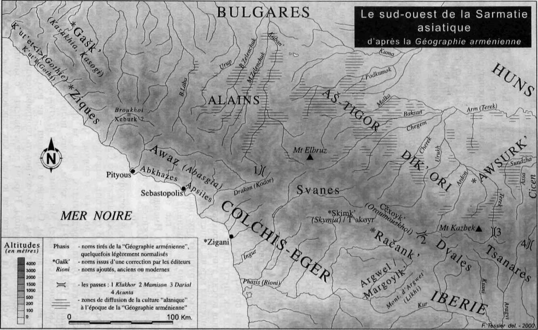 """Рис. 1. Карта распространения """"аланских"""" древностей"""