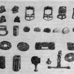 Рис. 30. Аланский могильник близ г. Стерлитамака. Вещи из различных погребений