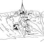 Рис. 2. Тали-Барзу. Зачистка северного склона центральной вышки городища.