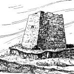Рис. 29. Башня Адиюх (схематический рисунок).