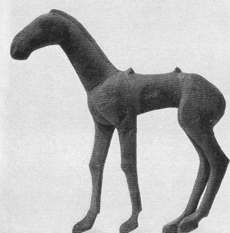 63. Деревянная фигура лошади. Катандинский курган.