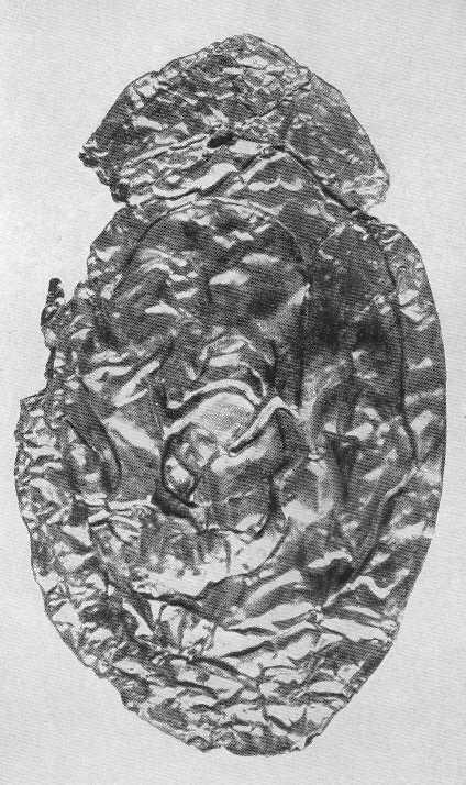 64. Золотые обкладки с изображением свернувшейся пантеры с когтистыми лапами. Майэмир.