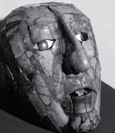 Нефритовая маска правителя народа майя, Паленке, Мексика. У народа майя нефрит являлся наиболее почитаемым материалом